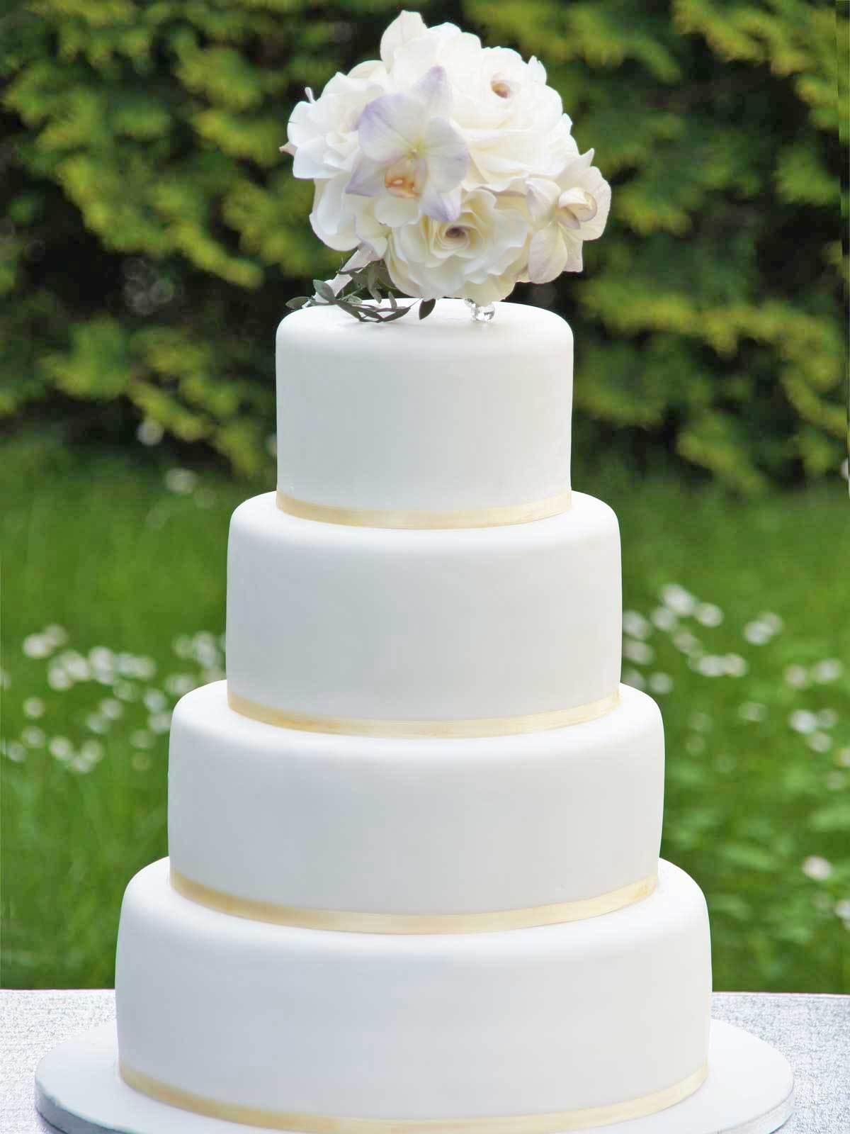 Hochzeits Torte Brautstrau Auf