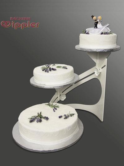 Hochzeits Torte Aprikose Mit Einem Hauch Von Lavendel Auf Ja De