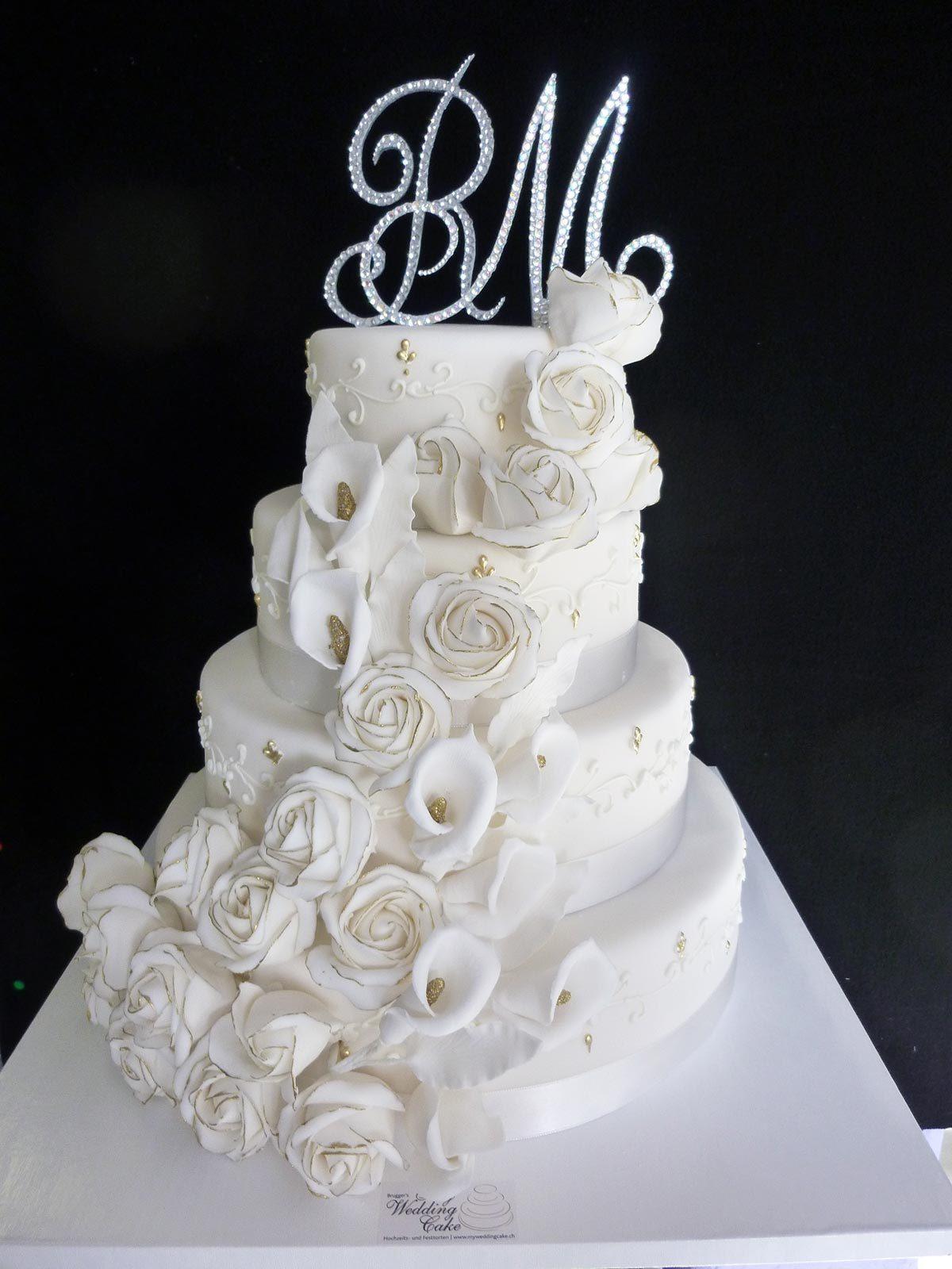 Hochzeits Torte Weisse Rose Auf Ja De