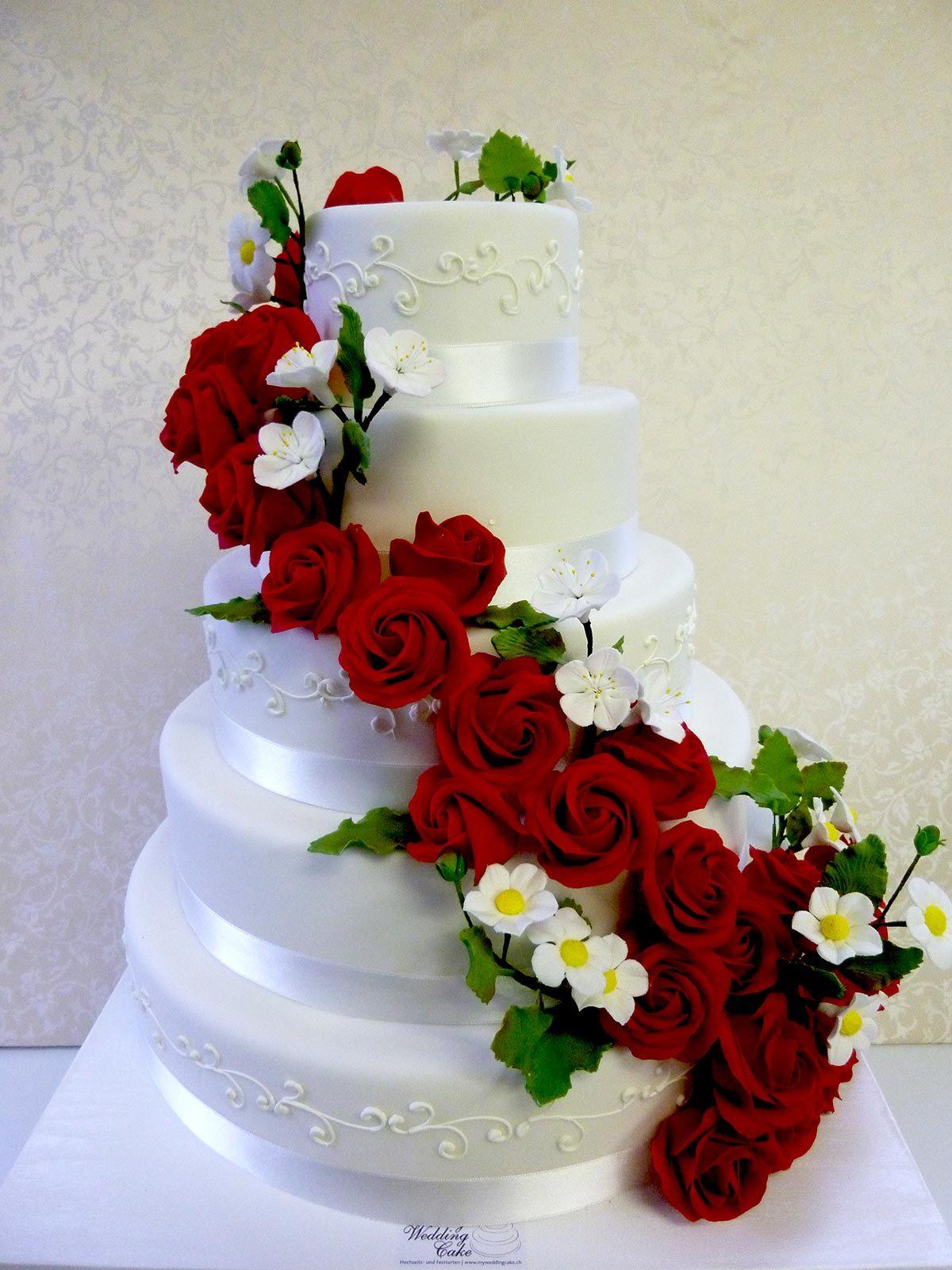 Hochzeits-Torte Zuckerrosen auf Ja.de
